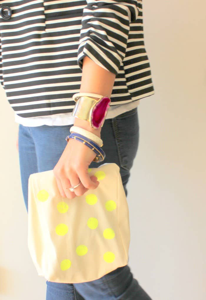Polka dot lunch sack