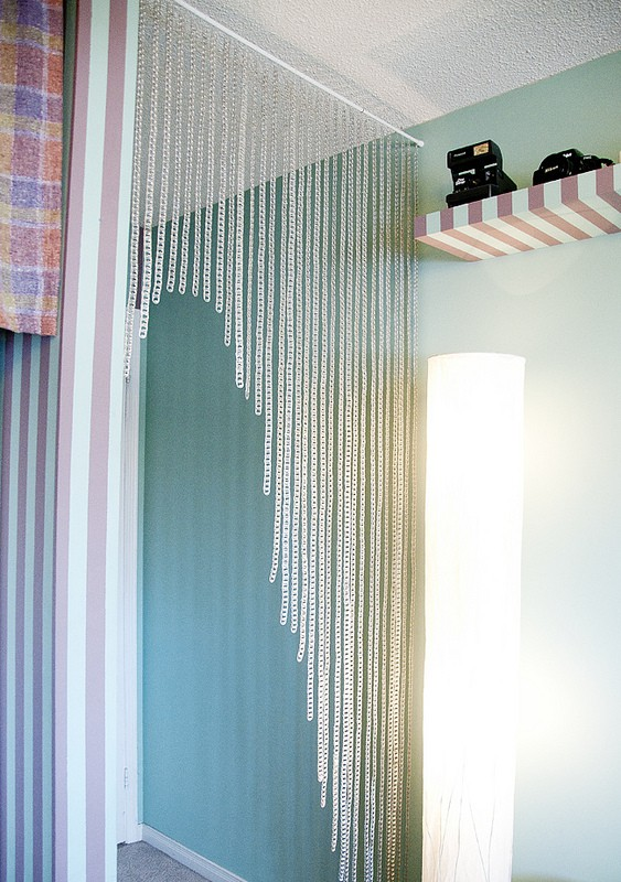 Pop tab door curtains