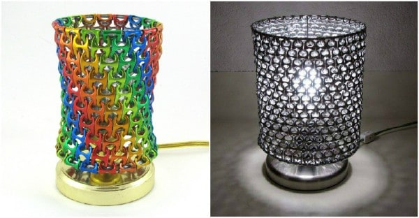 Pop tab lamp shade