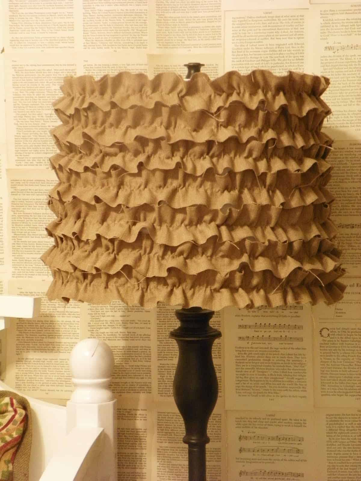 Pretty ruffled lamp shade