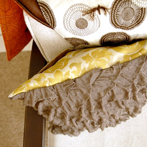 Ruffle front pillow upscaling