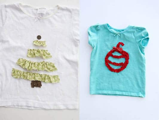Ruffled picture t-shirts