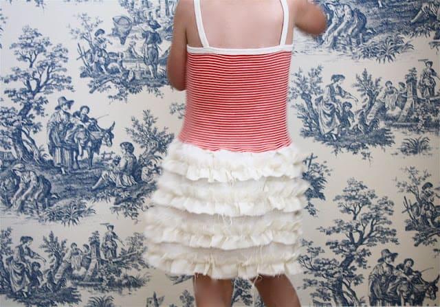 Ruffled toddler skirt