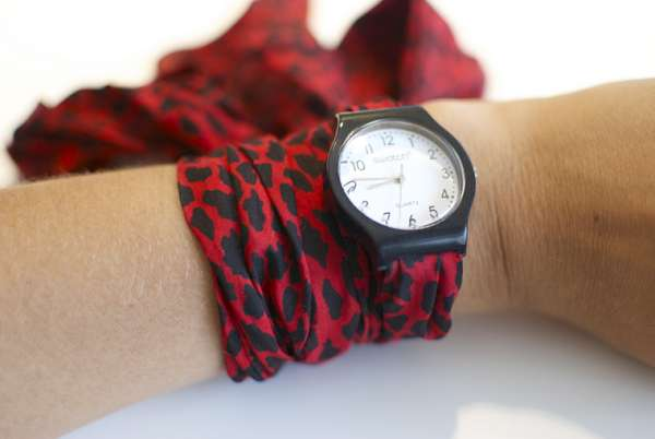 Scarf watch band