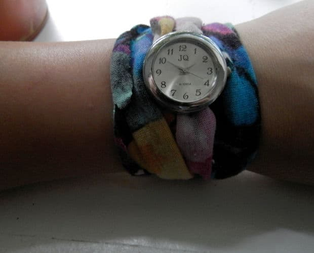 Scrap material watch band
