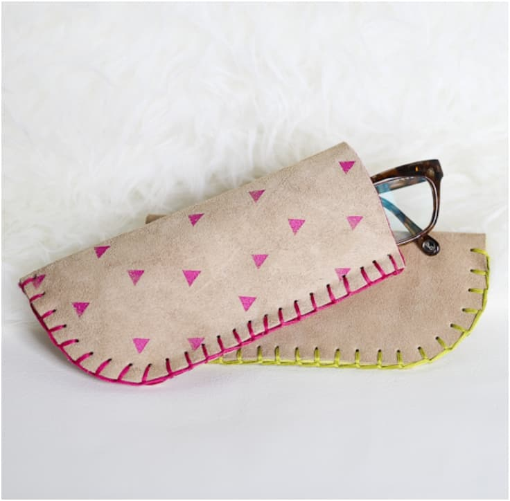 Soft patterned leather case