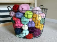 Wire basket with handles 200x150 Creative Yarn Storage Solutions for Busy Knitters