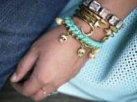 Woven chain charm bracelet 200x150 Style and Bling: DIY Bracelets Made with Chains