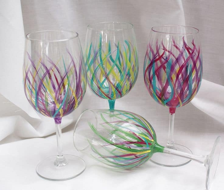 Wine Glass Painting Templates