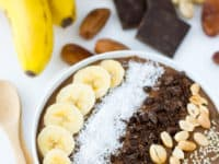Chocolate peanut butter smoothie bowl 200x150 These Smoothie Bowls Are Edible Works of Art