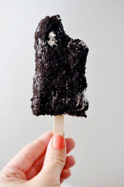 Cookies and cream popsicles