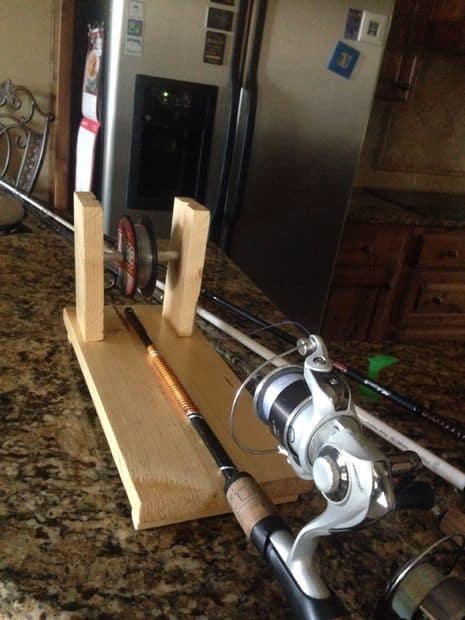 DIY fishing liner spooler