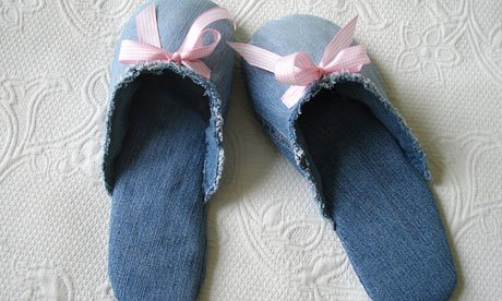 Denim-slippers