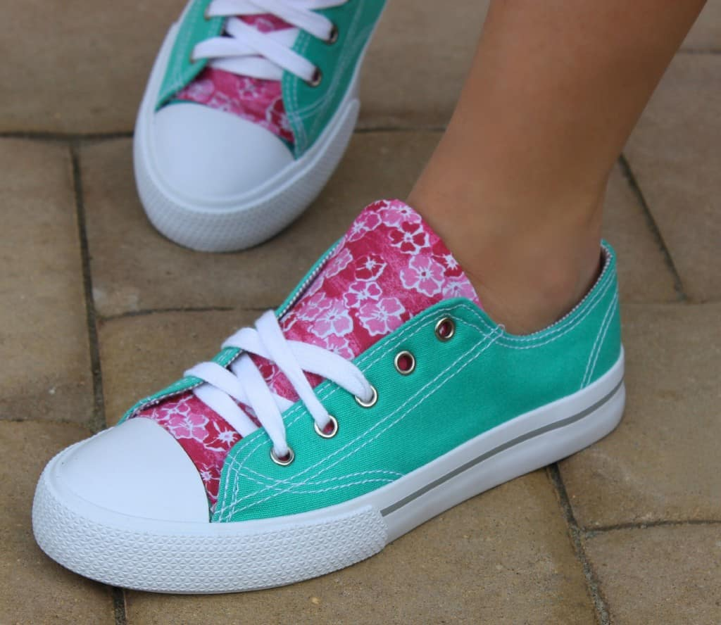 Fabric accent sneakers