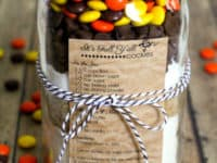 Fall Reeses pieces cookies 200x150 11 Mason Jar Baking Recipe Gifts