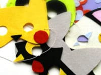 Felt Pokemon masks 200x150 15 Pokemon Themed Crafts to Celebrate Pokemon Go