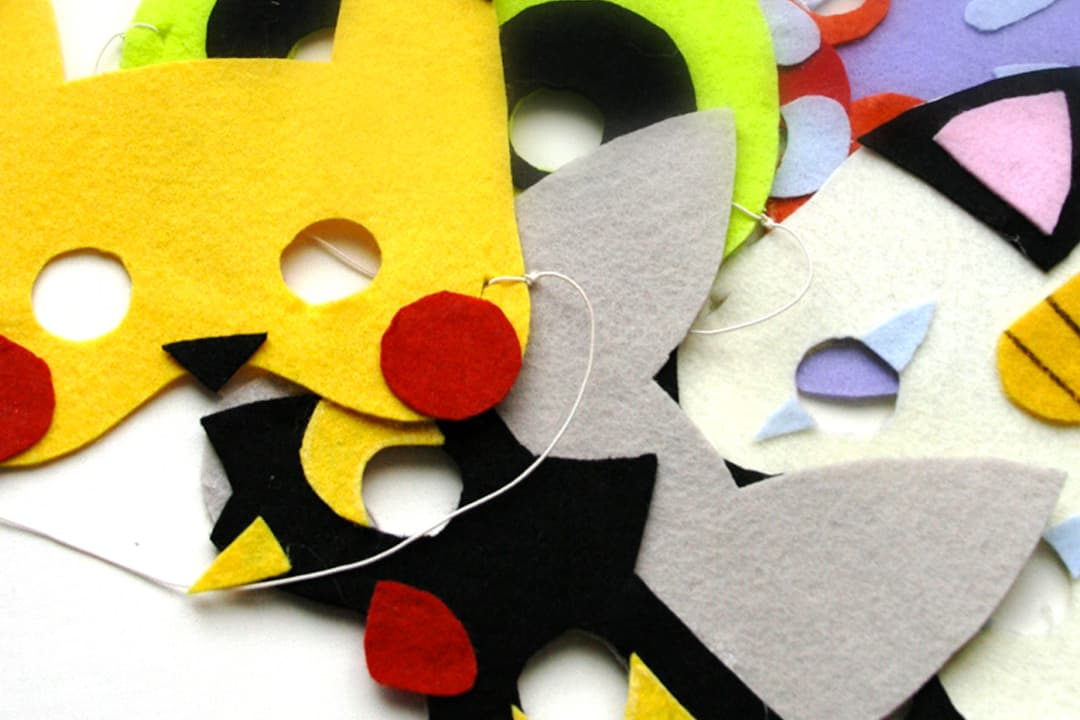 Felt Pokemon masks