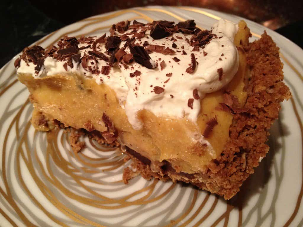Fudge bottom pumpkin pie