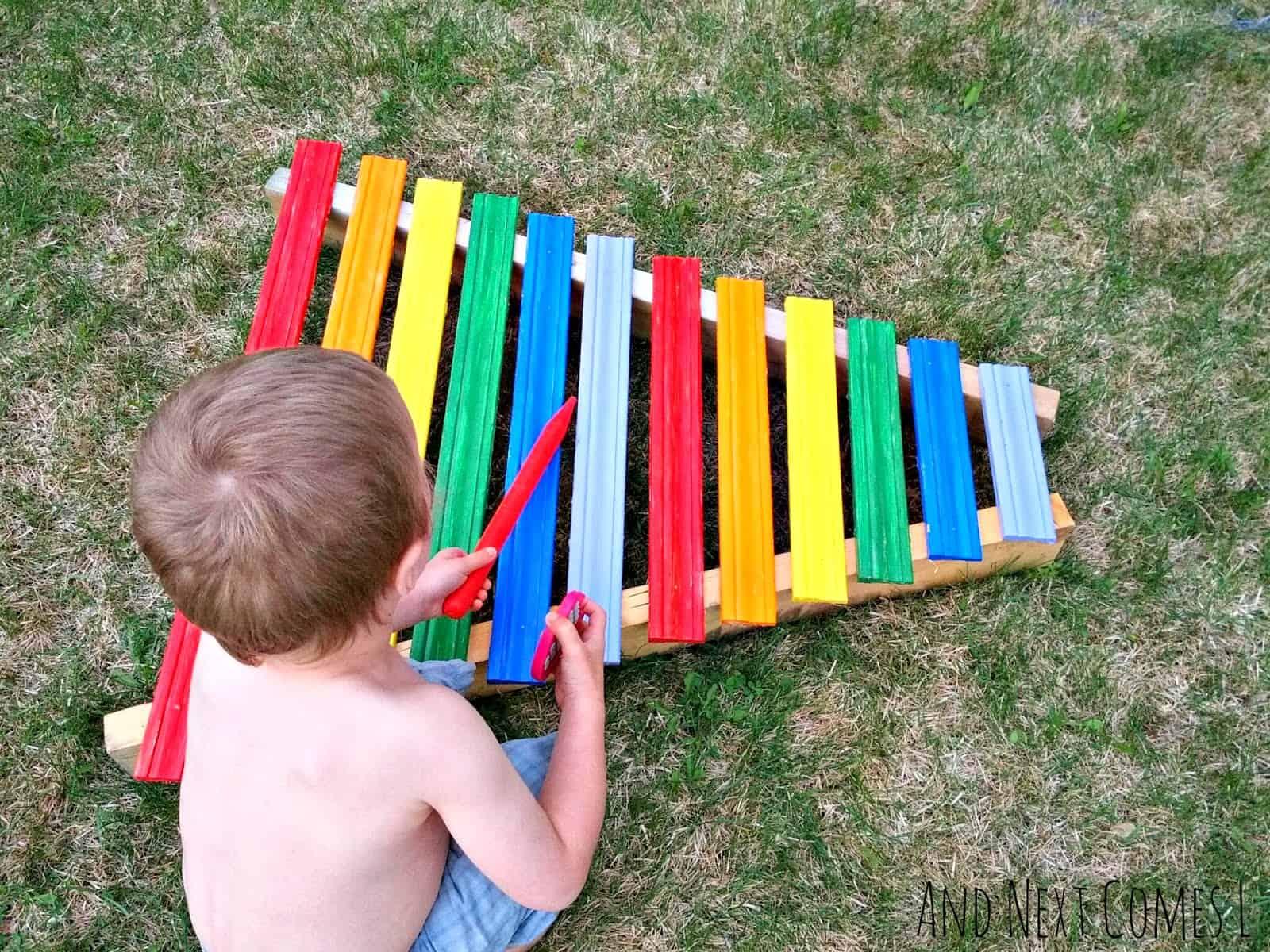 Giant rainbow xylophone