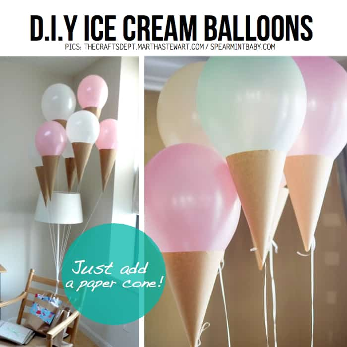 Ice cream cone balloons