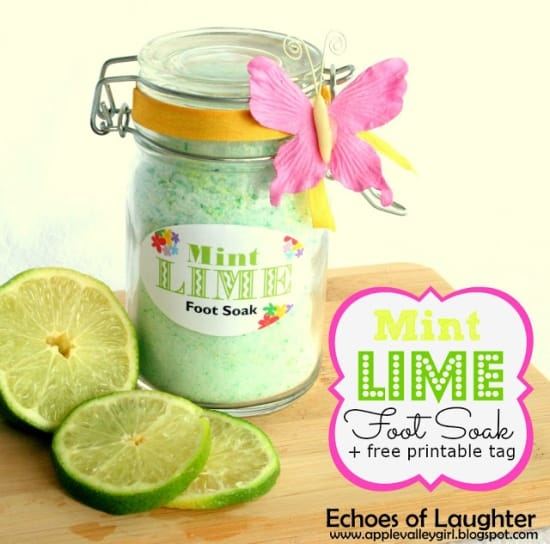 Lime mint foot soak
