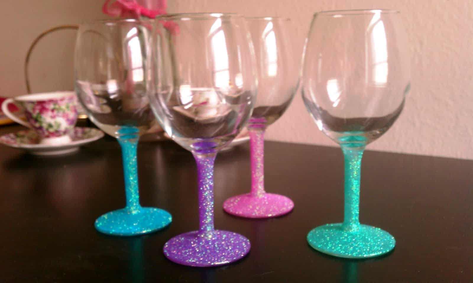 Chalk Paint Wine Glasses