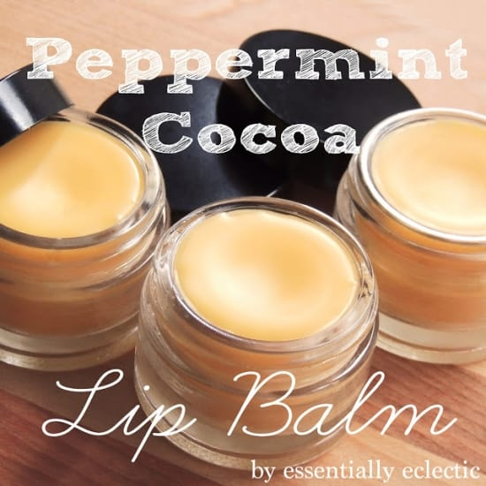 Peppermint cocoa lip balm