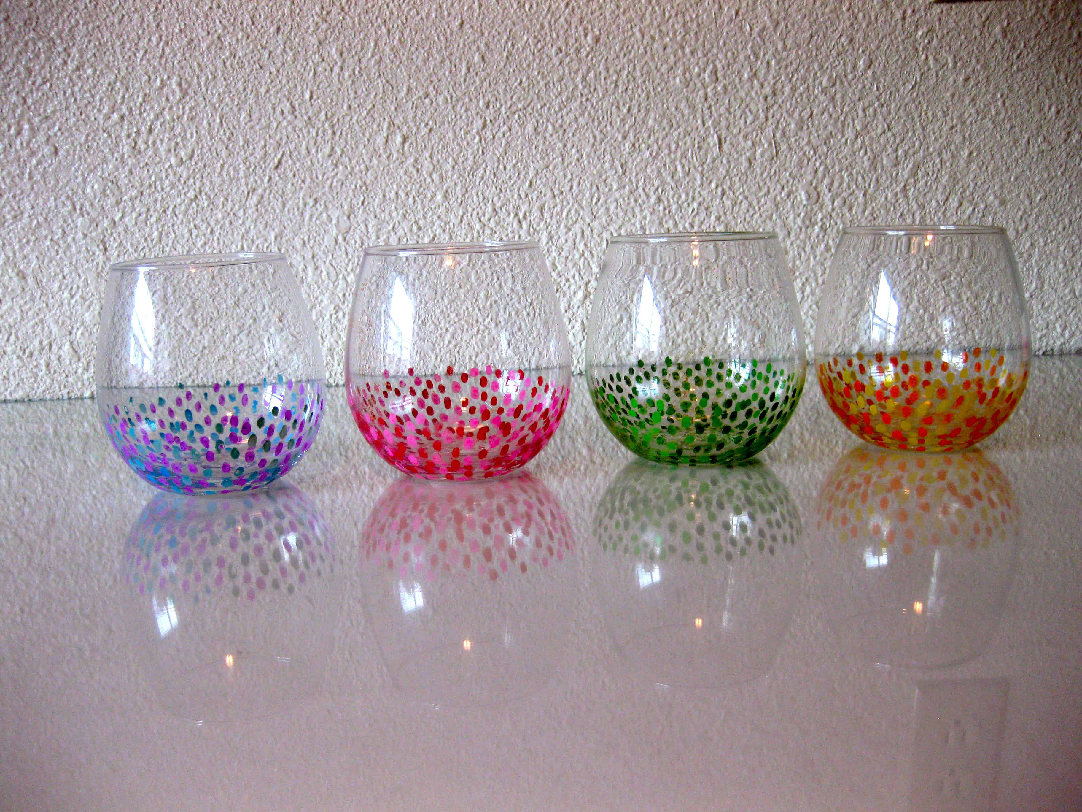 Speckled tumbler glasses