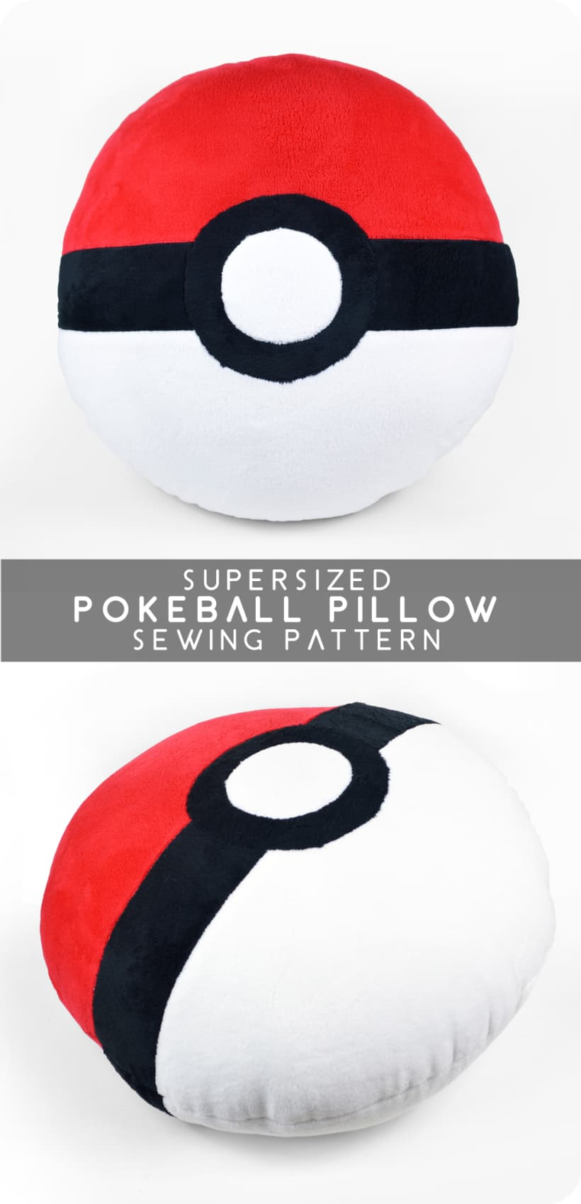 Supersized Pokeball cushion