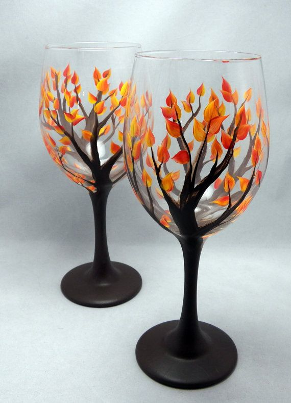 15 Painted Wine Glass Designs