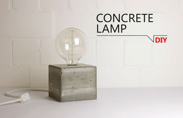 Concrete block lamp