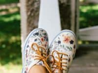 floral sneakers 200x150 Upgrade Your Sneakers DIY Style!