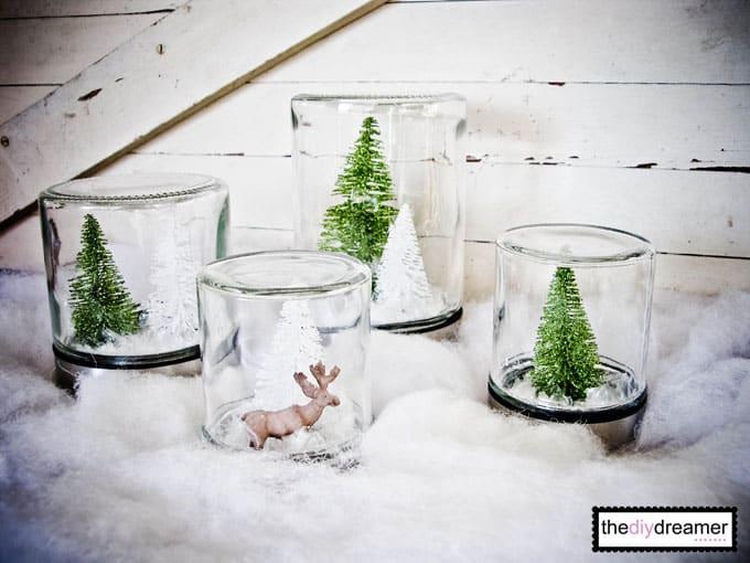 Forest snow globe