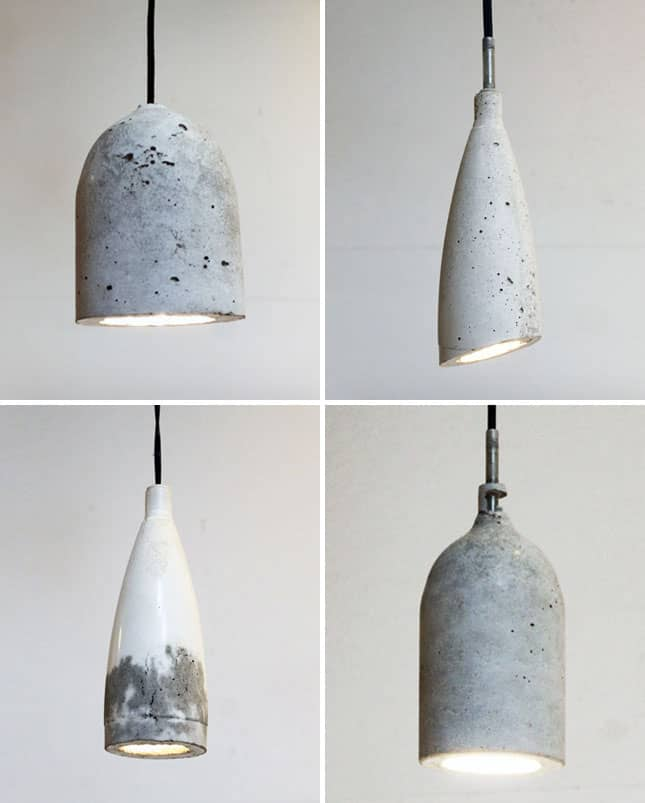 Concrete pendants