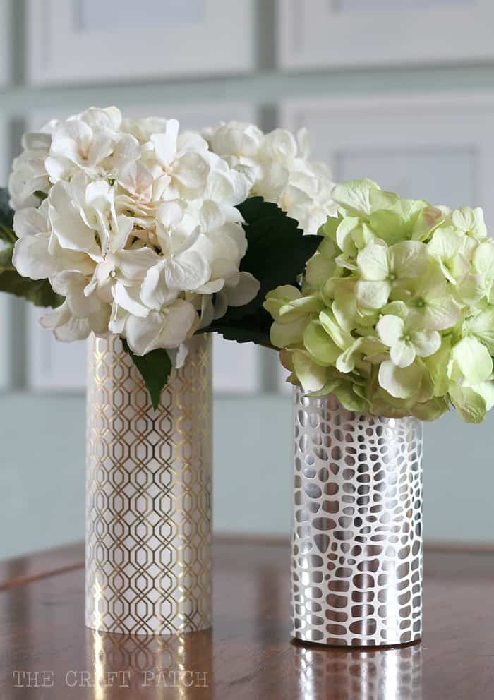 DIY metallic vase