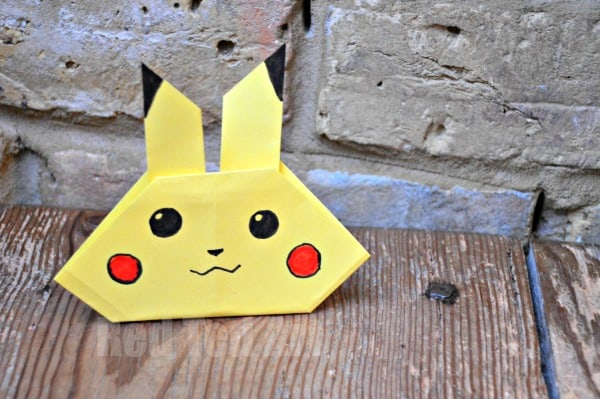 origami pikachu