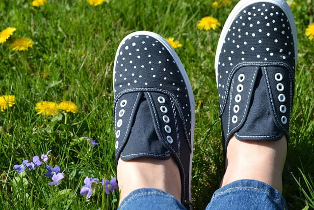 polka dot sneakers