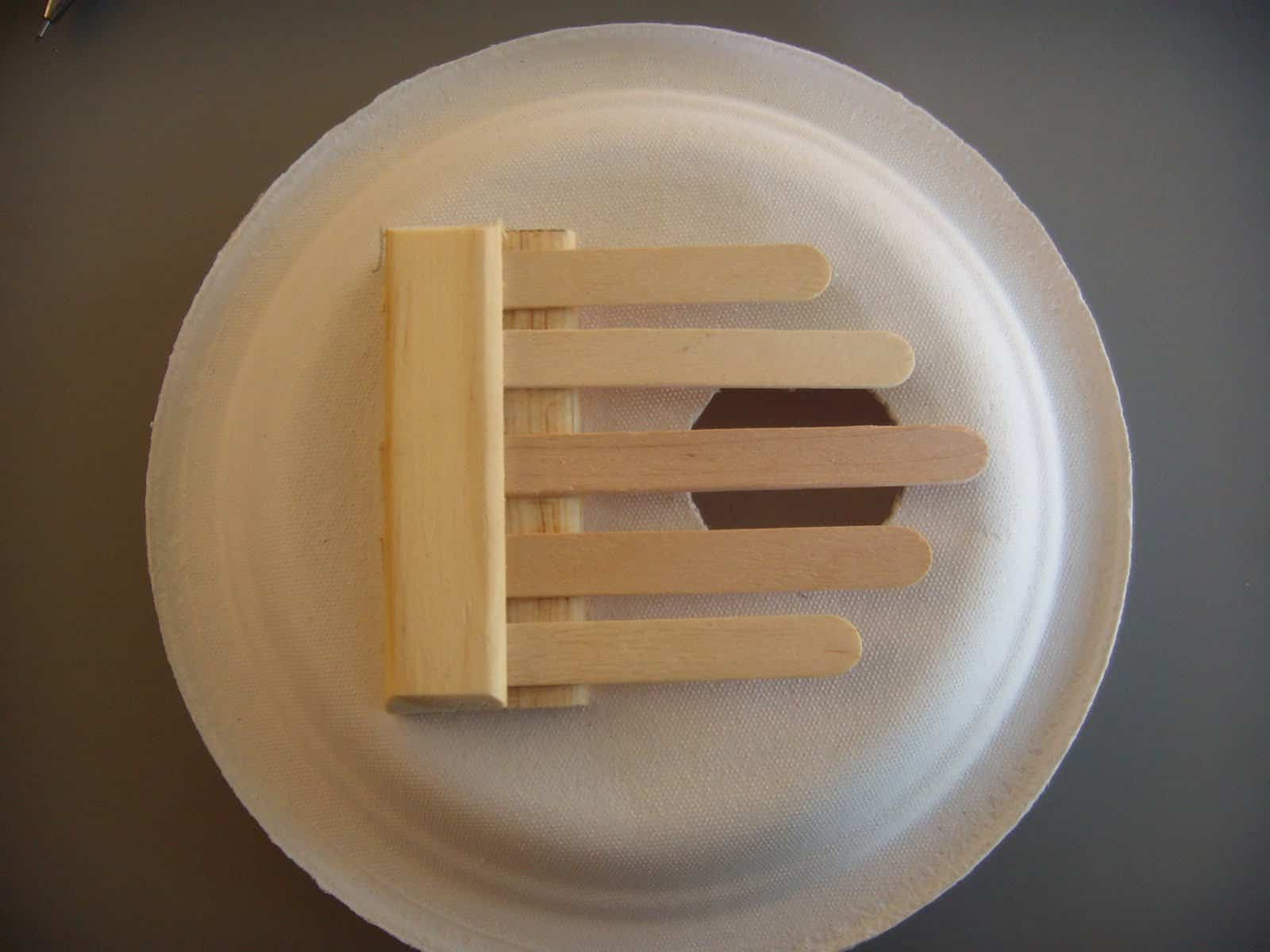 popsicle stick and paper plate kalimba