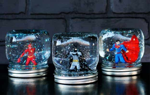 superhero snow globe