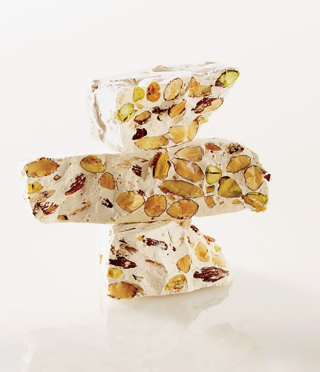 Almond pistachio nougat