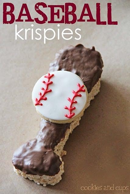 Baseball and bat cookies