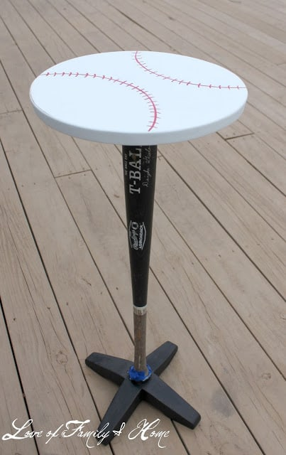 Baseball bat side table