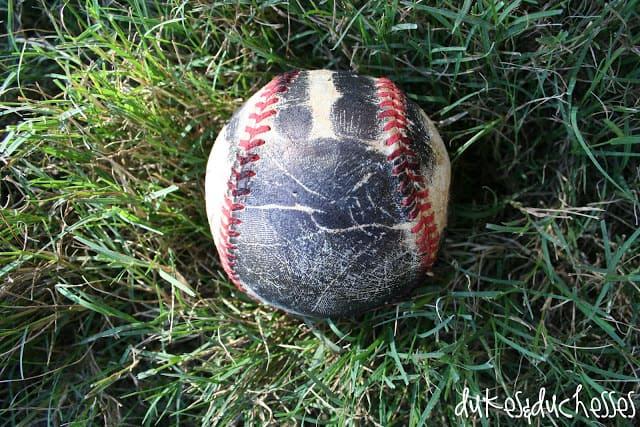 Baseball handprint souvenir