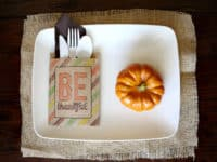 Be thankful utensil holders 200x150 Festive Fun: 12 Easy Thanksgiving Crafts for Kids