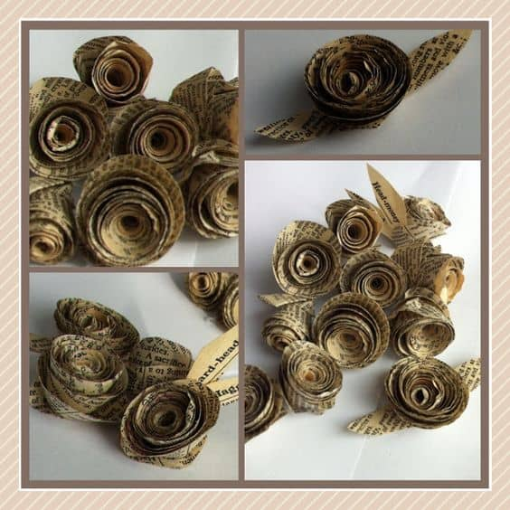 Book page rosettes