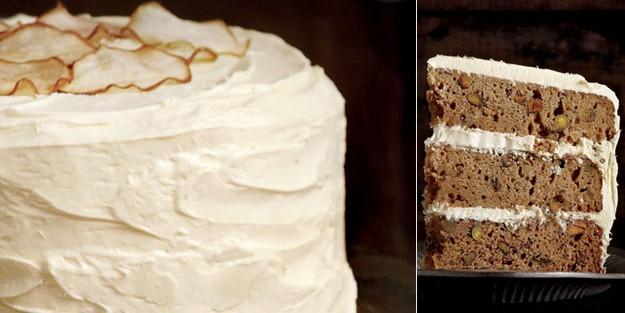 Brown sugar pear cake