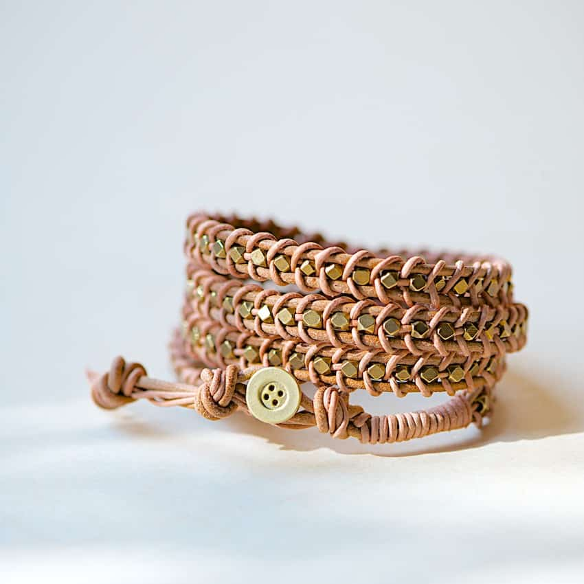 buttoned-leather-wrap-bracelet