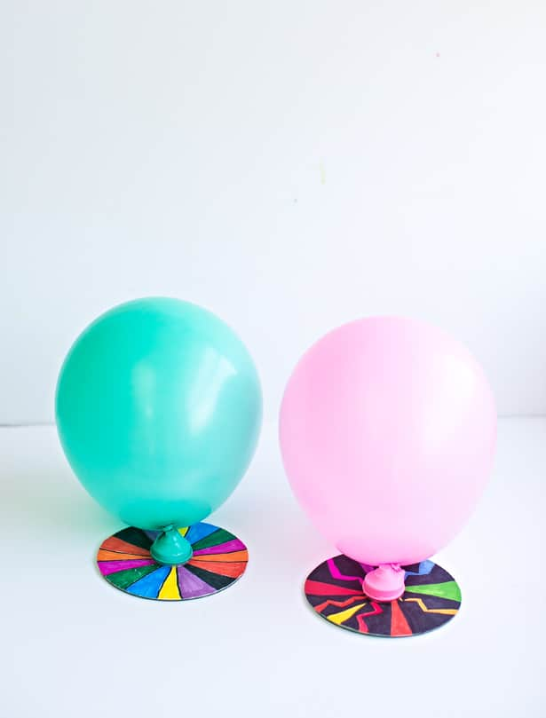 CD and balloon kids hovercraft project