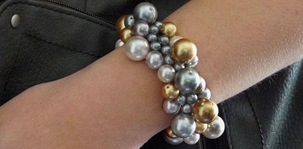 clustered-pearl-bracelet