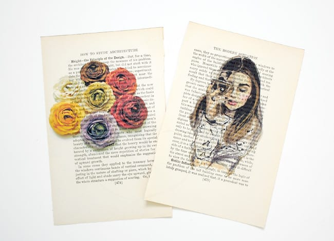 Colour printed book pages